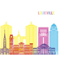 louisville v2 skyline pop vector image