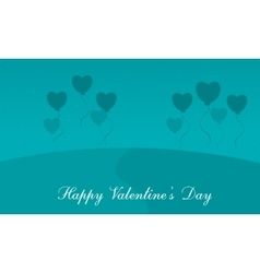 Many love balloons valentine background vector image