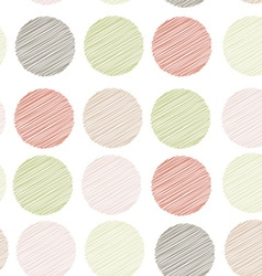 Polka dot background seamless pattern embroidery vector image vector image