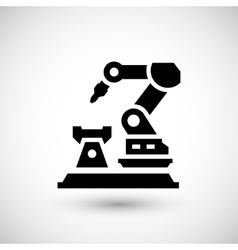 Robotic arm machine icon vector
