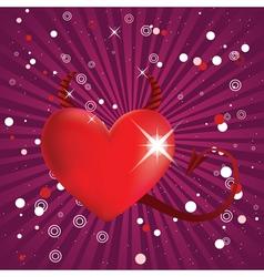 Shiny devil heart vector