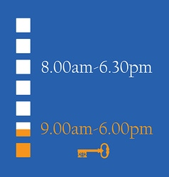 Shop timetable vector