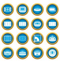sport stadium icons blue circle set vector image vector image