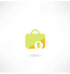 Suitcase with dollar icon vector