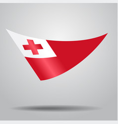 tonga flag background vector image vector image
