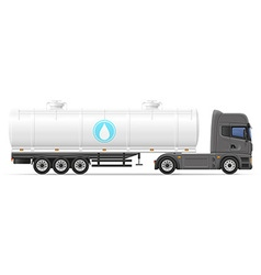 Truck semi trailer 07 vector