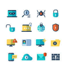 web security virus protection bug checkups vector image
