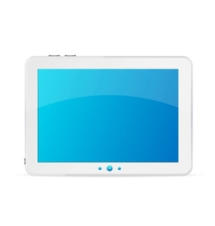 White tablet pc isolated vector image vector image