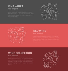 Wine industry banners vector
