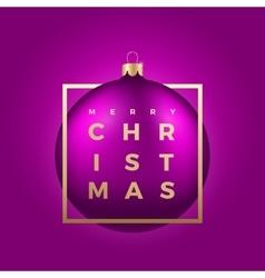 Realistic Christmas Ball on Purple vector image