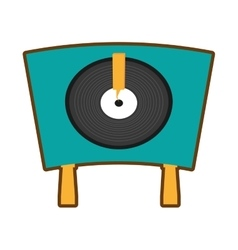 Turntable vinyl record lp vector
