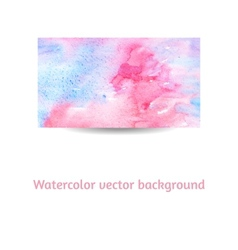 Artistic watercolor on textured paper background vector