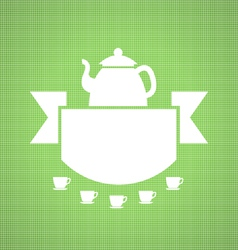 Teahouse design vector