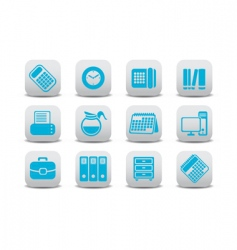 Office equipment icons vector