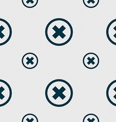 Cancel icon no sign seamless pattern with vector