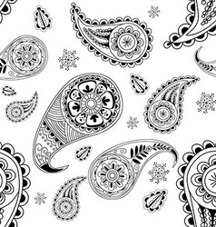Seamless abstract pattern with element henna styl vector