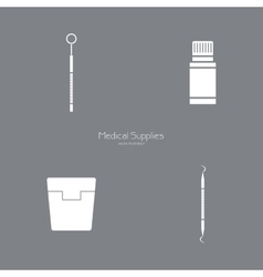 Medical silhoutte objects vector