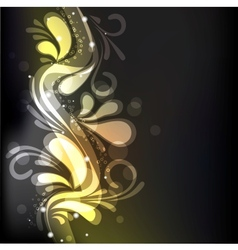 groovy floral decoration vector image
