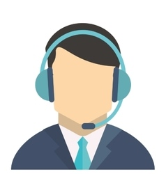 Person with headset vector