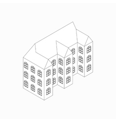 Apartment building icon isometric 3d style vector