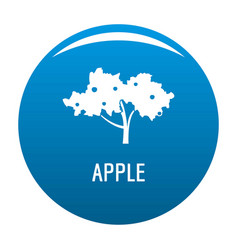 Apple tree icon blue vector