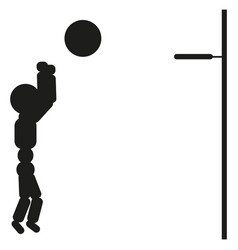 Basketball player man black vector