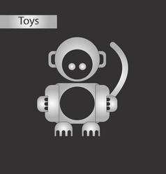 Black and white style toy monkey vector