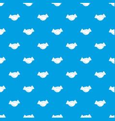 Business handshake pattern seamless blue vector