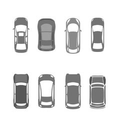 Cars top view 02 A vector image
