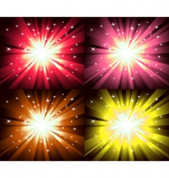 Christmas magic lights explosion vector image