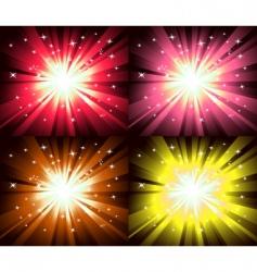 Christmas magic lights explosion vector image vector image