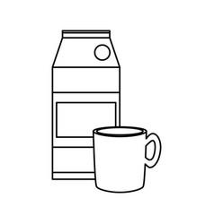 Coffee and milk carton vector