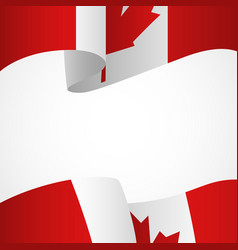 decoration of canada insignia on white vector image