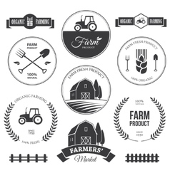 Farm labels 2 vector image vector image