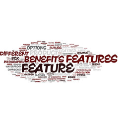 feature word cloud concept vector image