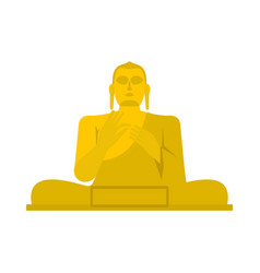 Golden buddha icon flat style vector