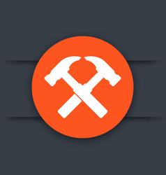 Hammers icon logo element vector