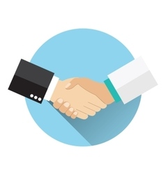 Handshake doctor and patient vector image vector image