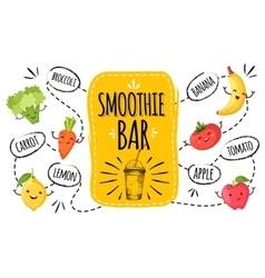 Healthy menu smoothie bar vector image vector image