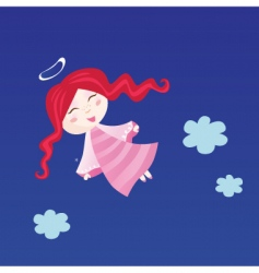 little child in angel costume vector image