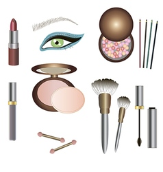 Make up details - sets of beauty products vector
