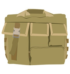 Military camouflage backpack vector image