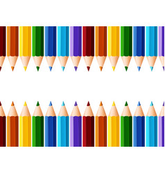 Namecard design with many color pencils vector