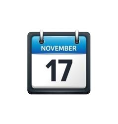 November 17 calendar icon vector