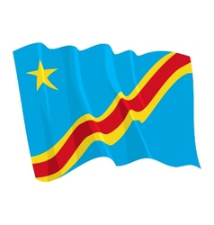Political waving flag of congo vector