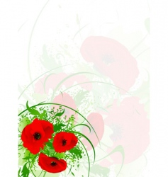 poppy vector image vector image