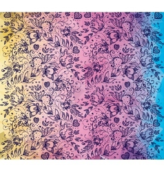 Rainbow pattern romantic vector