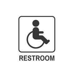restroom symbol for disability people in public vector image vector image