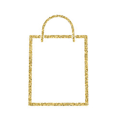 Shopping bag icon with glitter effect isolated on vector