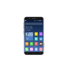 Smartphone unlocked with apps vector